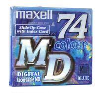 Maxell Color Collection Blue MiniDisc MD 74 (Réf#K-622)