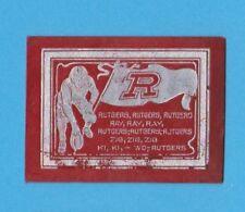 c1910s large tobacco leather RUTGERS UNIVERSITY College Yell Fottball playergilt
