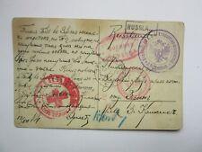WWI Russia LATVIAN  WENDEN Prisoner Letter WAR CENSOR Cancel y1915