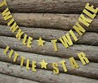 BABY SHOWER TWINKLE TWINKLE LITTLE STAR GOLD GLITTER BANNER BUNTING PARTY