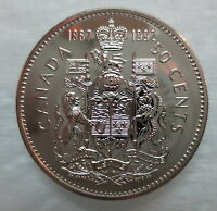 1867-1992 CANADA 50 CENTS 125th CONFEDERATION ANNIVERSARY PROOF-LIKE COIN