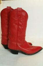 Justin Cowboy Boots Red Style 4905 Leather Womens Size 6 1/2 B