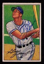 1952 Bowman #82 Gus Zernial Philadelphia A's Athletics AUTOGRAPHED SIGNED NICE!