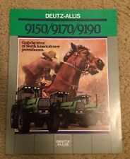 Deutz-Allis 9150 9170 9190 Tractor Dealer's Brochure AED 1161-8811