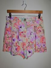 MINKPINK MINK PINK Floral High Waisted Shorts Size 12 Medium M