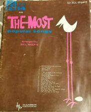 Vintage 1962 Most Popular Songs Sheet Music Book Organ Hansen No.14 Bill Meeks