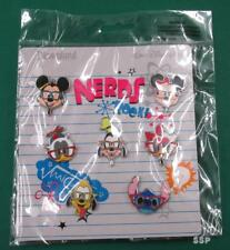 Disney Pins Mickey & Friends Nerds Rock Minnie Stitch Pluto 7-Pin Booster Set