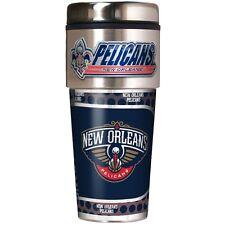 NBA New Orleans Pelicans Stainless Steel Travel Tumbler Mug Metallic Wraps 16oz