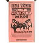 """Vintage Hell Yeah Allman Brothers Scaggs Pacific Presentations Poster 22 X 14"""""""