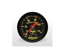 """Marshall Gauge 0-15 Psi Fuel Pressure Gauge Midnight Black 1.5"""" (Liquid Filled)"""