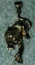 Sterling Silver Black Panther  Pendant 925 Puma Jaguar charm