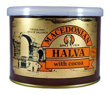 Grec MACEDONIAN HALVA WITH cacao, poids net 500 g, tin can.