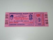 Rocky Marciano vs. Jersey Joe Walcott Phantom Tickets, April 10, 1953