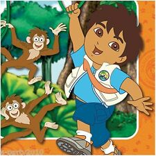 GO DIEGO GO Biggest Rescue LARGE NAPKINS (16) ~ Birthday Party Supplies Luncheon