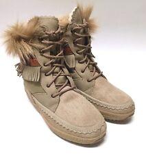 TECHNICA Navajo Women's Size 6.5 Tan Fur Apres Ski Winter Boots  Made In Italy