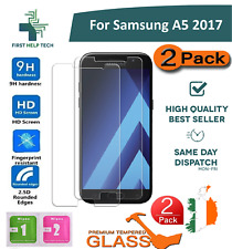 2 PCS For Samsung Galaxy A5 2017 Premium Tempered Glass Screen Protector Film