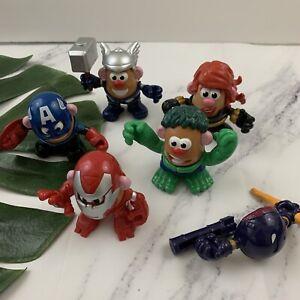 Mr Potato Head Mix and Mashable Heroes Marvel Avengers Set Hulk Thor Iron Man
