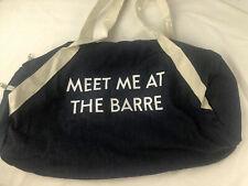 Meet Me At The Barre Duffel Yoga Bag Denim Blue Double Strap Light Weight Zipper