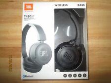 JBL Pure Bass Sound Bluetooth T450BT Wireless On-Ear Headphones Black BRAND NEW