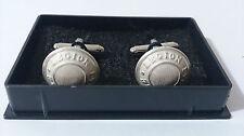 Coffret / Paire de 2 boutons manchettes 1,6 cm Blanc Mat /Cavalerie 1°REC LÉGION