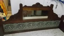 Superb Antique Mahogany Marble Top Mirror Tiled Washstand Made in England (Bar)