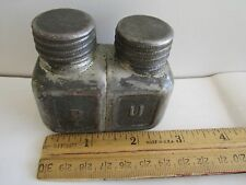 2=1+1 WW2 ARMY OIL CANS: New May Russian W/Copper Cap+Germany Double Rifle, RARE