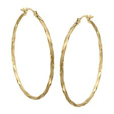 Earrings in 14K Gold Eternity Gold Twisted Hoop