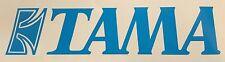 "Tama Drums logo 9"" X 2"" BLUE logo DIE CUT sticker decal for bass drum drumhead"