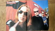 GARBAGE (Shirley Manson) fenced in Centerfold magazine POSTER  17x11 inches