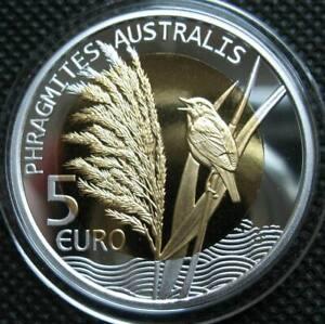 Luxembourg 5 Euro 2018 Silver Nordic Gold Bi-Metallic Coin Phragmites Australis