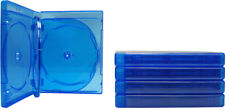 (5) BR6R21BL 6 Disc Capacity Blu-Ray Empty Replacement Boxes Cases 21mm .83""