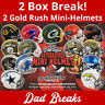 MINNESOTA VIKINGS Signed/Autographed GOLD RUSH SPECIALTY Mini Helmet 2 BOX BREAK