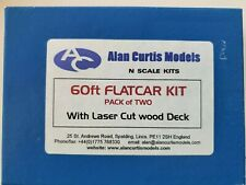 Alan Curtis Models Metal - 60ft Flatcar Kit ( 2 cars ) - out of production