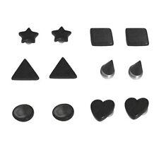 12pcs Magnetic Black Shape Fake Plug Kit Illusion Cheater No Piercing Needed Art