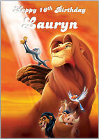 Lion King Simba Birthday Card A5 Personalised own words