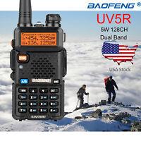 Baofeng UV-5R VHF/UHF Dual Band Two Way Ham Radio Transceiver Walkie Talkie New