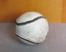 Vintage White Leather Baseball  Out Seam Stitching Great Shape Nice Display Ball
