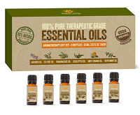 USDA Organic Certified Aromatherapy Essential Oils Kit set of 6 -10ml Scents