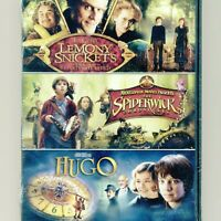 3 PG family movies Lemony Snickets Events, Spiderwick Chronicles, Hugo, new DVDs