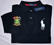 New 3XLT 3XL TALL POLO RALPH LAUREN Mens Big Pony black rugby shirt top 3XT NWT
