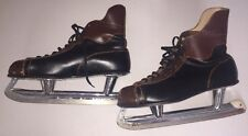 Vintage Canadian Ace Pro Leather Ice Skates size 11 2/3. pre-owned, used