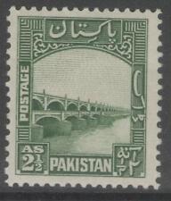 PAKISTAN SG30 1948 2½a GREEN MTD MINT