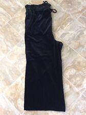 NEW Cynthia Rowley Size XL Black Velvet Pull On Cropped Pants Drawstring NWT