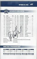 paul westphal autographed program signed book nj nets kings Sacramento auto nba