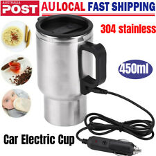 450ml Car Electric Water Kettle Heating Cup Coffee Tea Mug Stainless Camping 12v