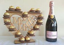 """""""Mr & Mrs"""" CUORE Ferrero Rocher Display Stand, Piramide Albero Contiene 30"""
