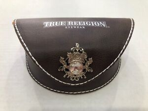 True Religion Brown Eyewear case sunglasses case with outer box TRE2