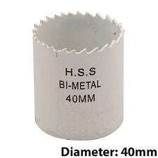 BI-Metallo Punte Trapano CORE-DIAMETRO 40mm-acciaio HSS legno foro visto piano di lavoro Cutter