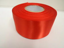 25mm 38mm & 50mm 100mm Satin Ribbon 2 or 25 metre roll double single UK VAT Reg
