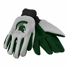 Michigan State Spartans Gloves Sports Logo Utility Work Garden NEW Colored Palm